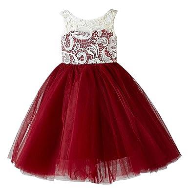 4f16e2e50 Amazon.com  princhar Lace Tulle Flower Girl Dress Wedding Party Girl ...