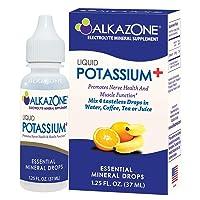 ALKAZONE Liquid Potassium+ | Electrolyte Supplement | Bone Health | Muscle Cramp...