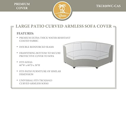 Amazon.com: Bermuda/Toscana/Miami Curved Armless sofá ...