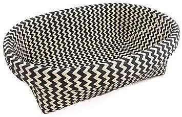 oval wicker decorative storage basket black and white chevron - Decorative Storage Baskets