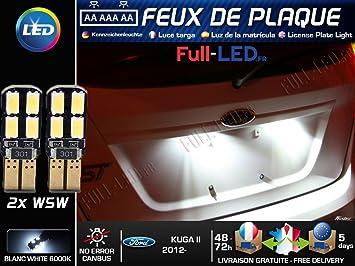 Pack Bombillas LED iluminación placa para Ford Kuga 2: Amazon.es: Coche y moto
