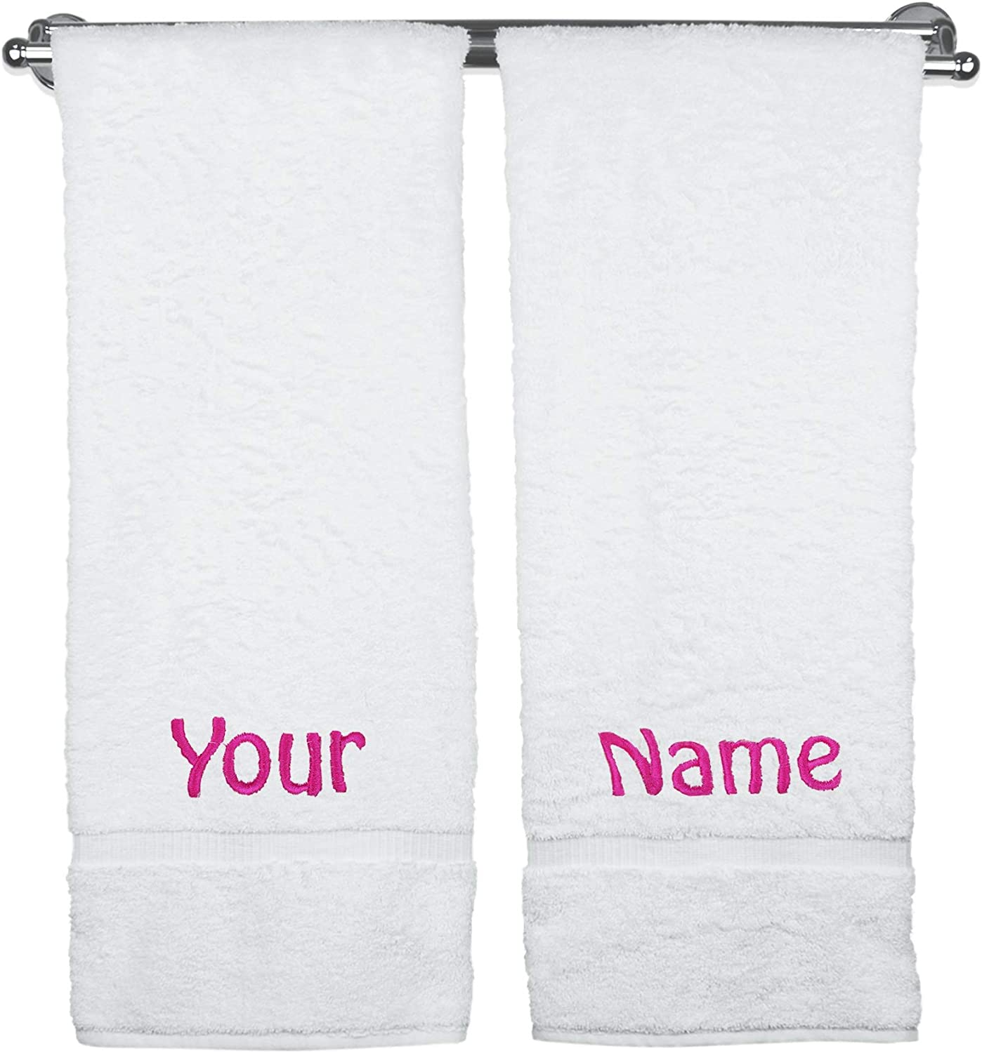 CHRISTMAS TREES and Name Embroidered on Towels Bath Robe Hooded Towel cotton