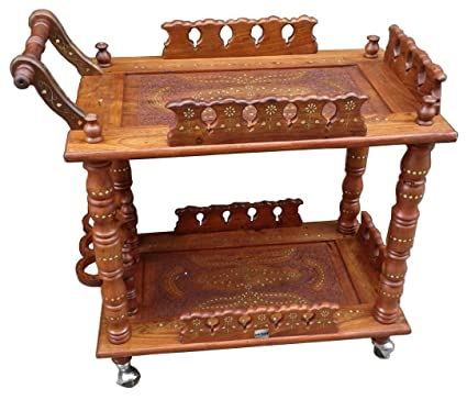 Aarsun Woods Handmade Wooden Service/ Bar Trolley