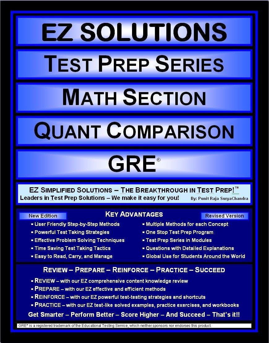 Read Online EZ Solutions - Test Prep Series - Math Section - Quantitative Comparison - GRE (Edition: New. Version: Revised. 2015) (EZ Test Prep) pdf epub
