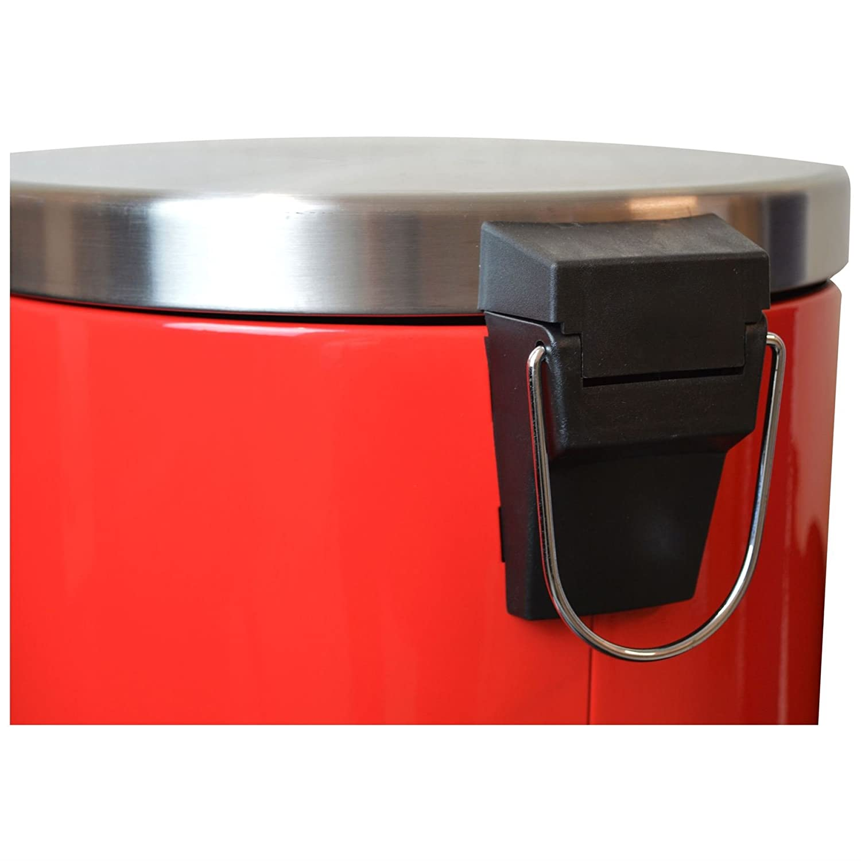 Harbour Housewares 30 Liter K/üchen Treteimer Rot