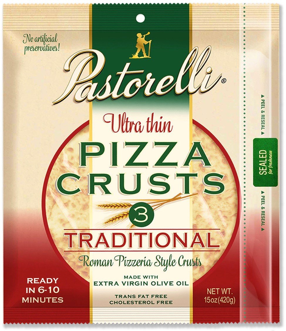 Pastorelli Ultra Thin & Crispy Pizza Crust, Traditional, 12-inch, 3-ct (Pack of 4) by Pastorelli