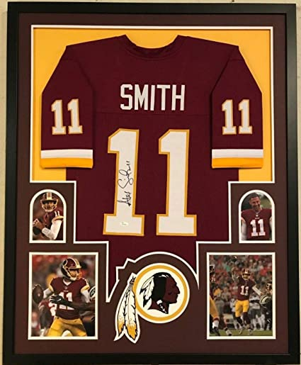 new arrival 0588b 48dd6 FRAMED ALEX SMITH AUTOGRAPHED SIGNED WASHINGTON REDSKINS ...