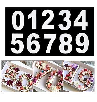 25 4 Cm Acryl Anzahl Kuchenform Fur Kuchen Backen Zahlen Form 0 9