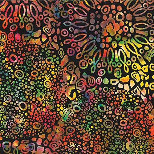 Hoffman Hancock's Rainbow Bali Batik Onyx Prism Carnival Bloom ()