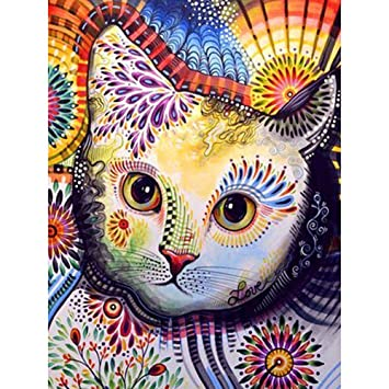 5D DIY Full Drill Diamond Painting Animals Cross Stitch Crafts Home Decor Gifts