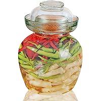 Vencer Tarro de fermentación de vidrio tradicional, 1,5 litros y tapa, clip de acero inoxidable y cepillo de esponja…