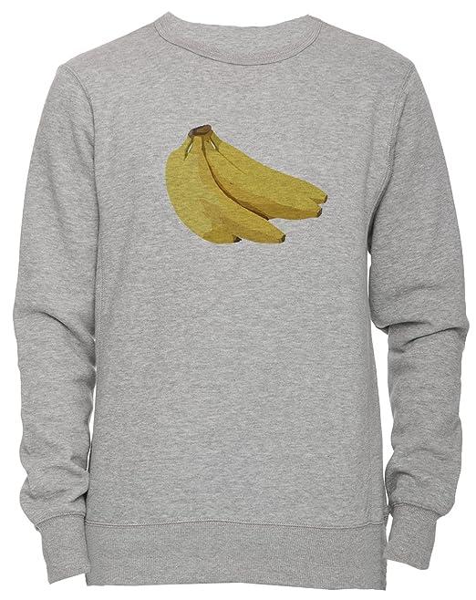 Plátanos Unisexo Hombre Mujer Sudadera Jersey Pullover Gris Todos Los Tamaños Unisex Mens Womens Jumper Sweatshirt Grey All Sizes: Amazon.es: Ropa y ...