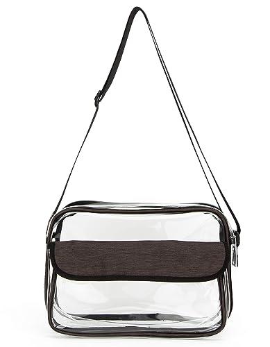 31436f8ef174 Amazon | [Pacmaxi]ショルダーバッグ クリア PVC 透明 軽い 大容量 斜め ...