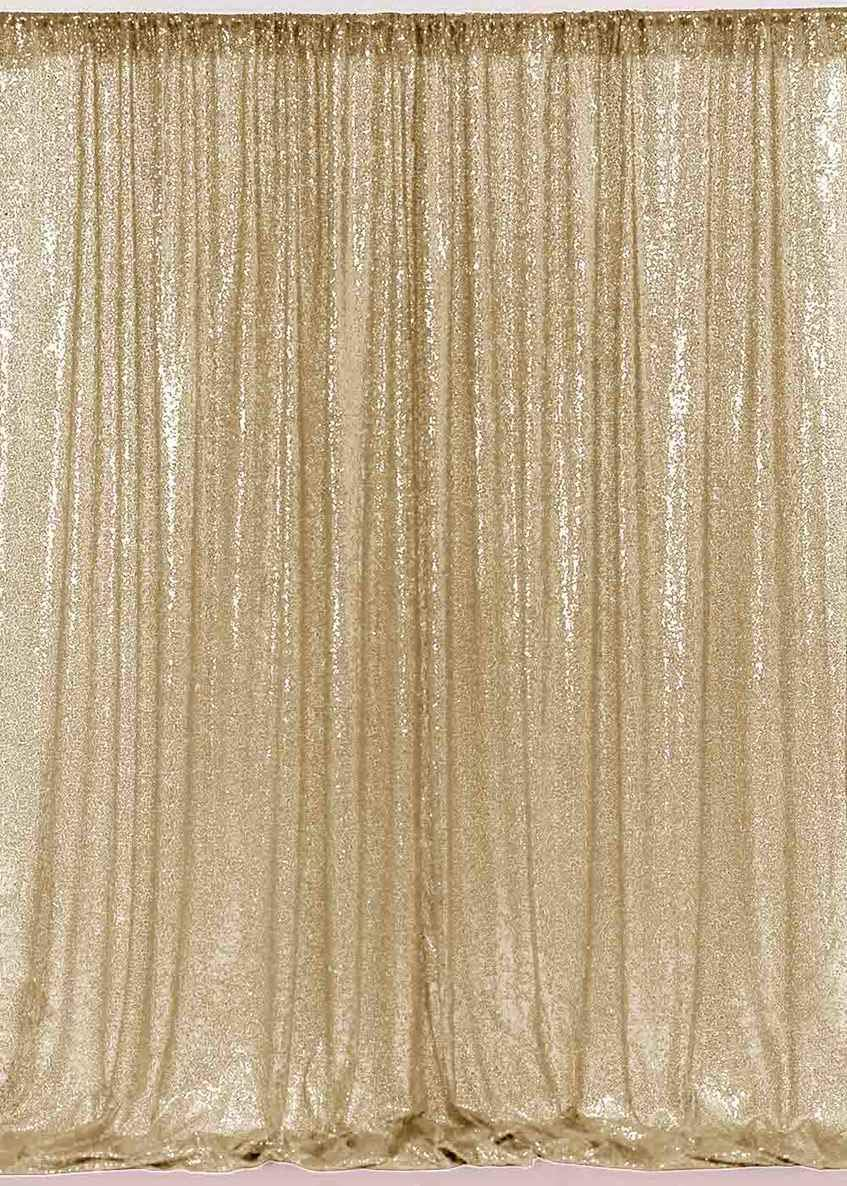 ShinyBeauty Sequin Backdrop Light Gold-10FTx10FT- Sparkly Glitz Photo Booth Backdrop for Wedding/Christmas (Light Gold) by ShinyBeauty