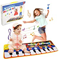 Gift for 2-8 Year Old Kids, Piano Mat for Toddlers, 19 Musical Keyboard Playmat Music Touch Play Dance Mat, Birthday…