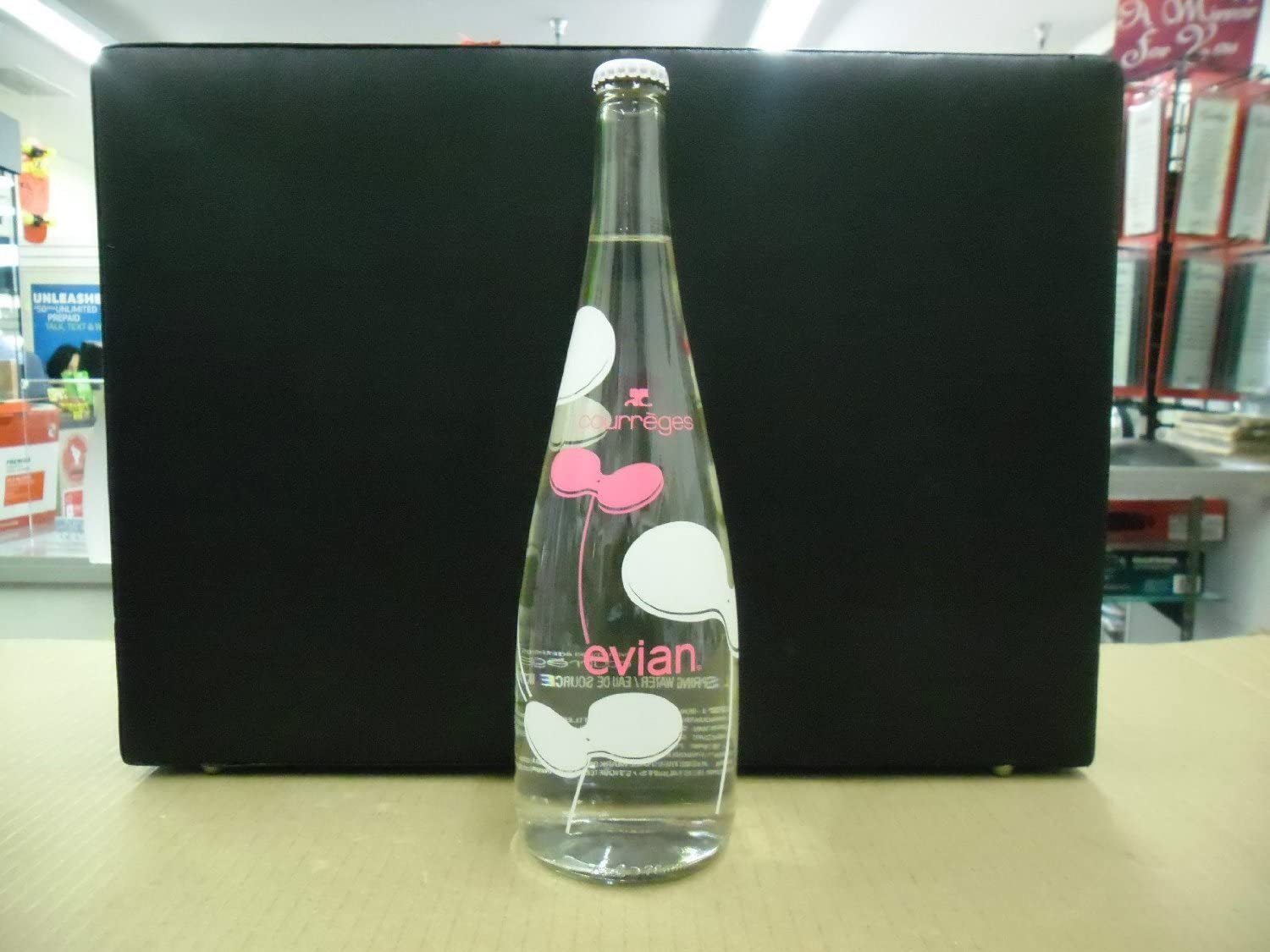 Amazon Com Evian Andre Courreges Fashion Designer Art Limited Edition 2012 Glass Luxury Water Bottle France Home Improvement