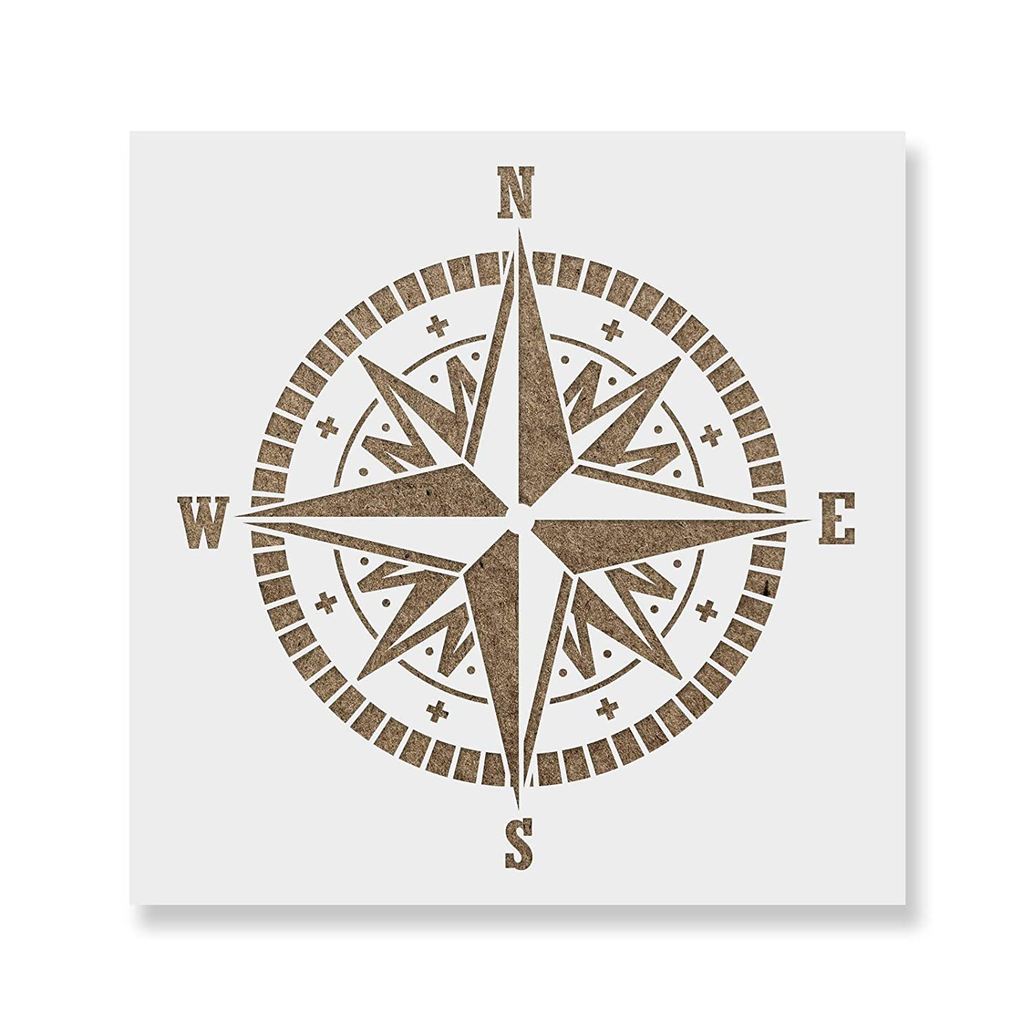 Compass Stencil Template - Reusable Stencil with Multiple Sizes Available Stencil Revolution 4336893196