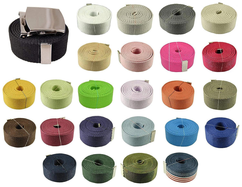 Fashion Belt Light Pink 60 Plain Big Silver Canvas Military Web Belt /& Buckle #AAAS