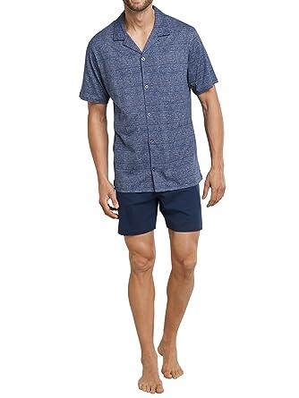 c80e66dde41326 Seidensticker Herren Zweiteiliger Schlafanzug Pyjama Kurz: Amazon.de ...