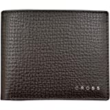 Cross Men's Genuine Leather Coin Wallet with Credit Card Slot - Brown