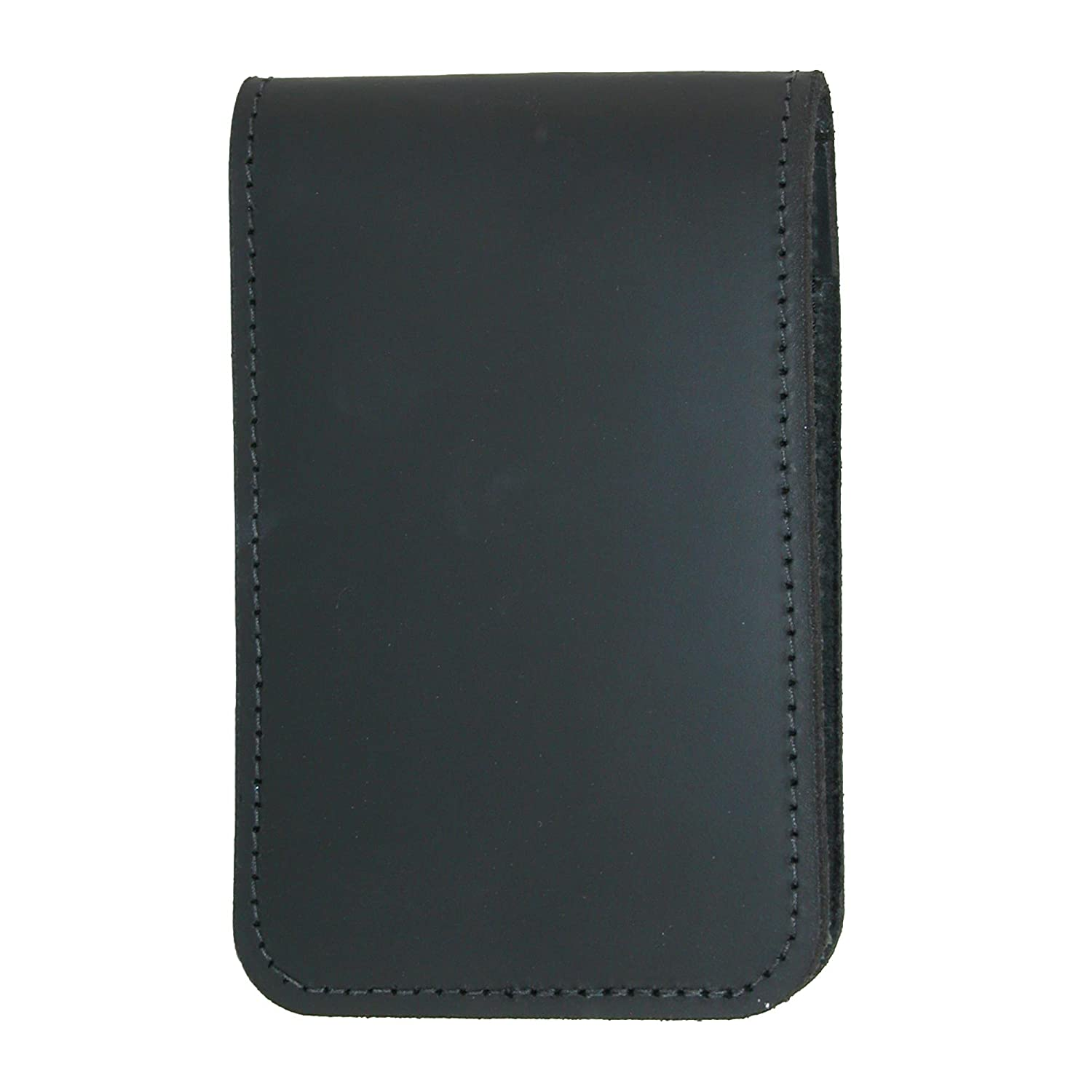 Boston Leather Smooth Leather Note Pad Holder, Black