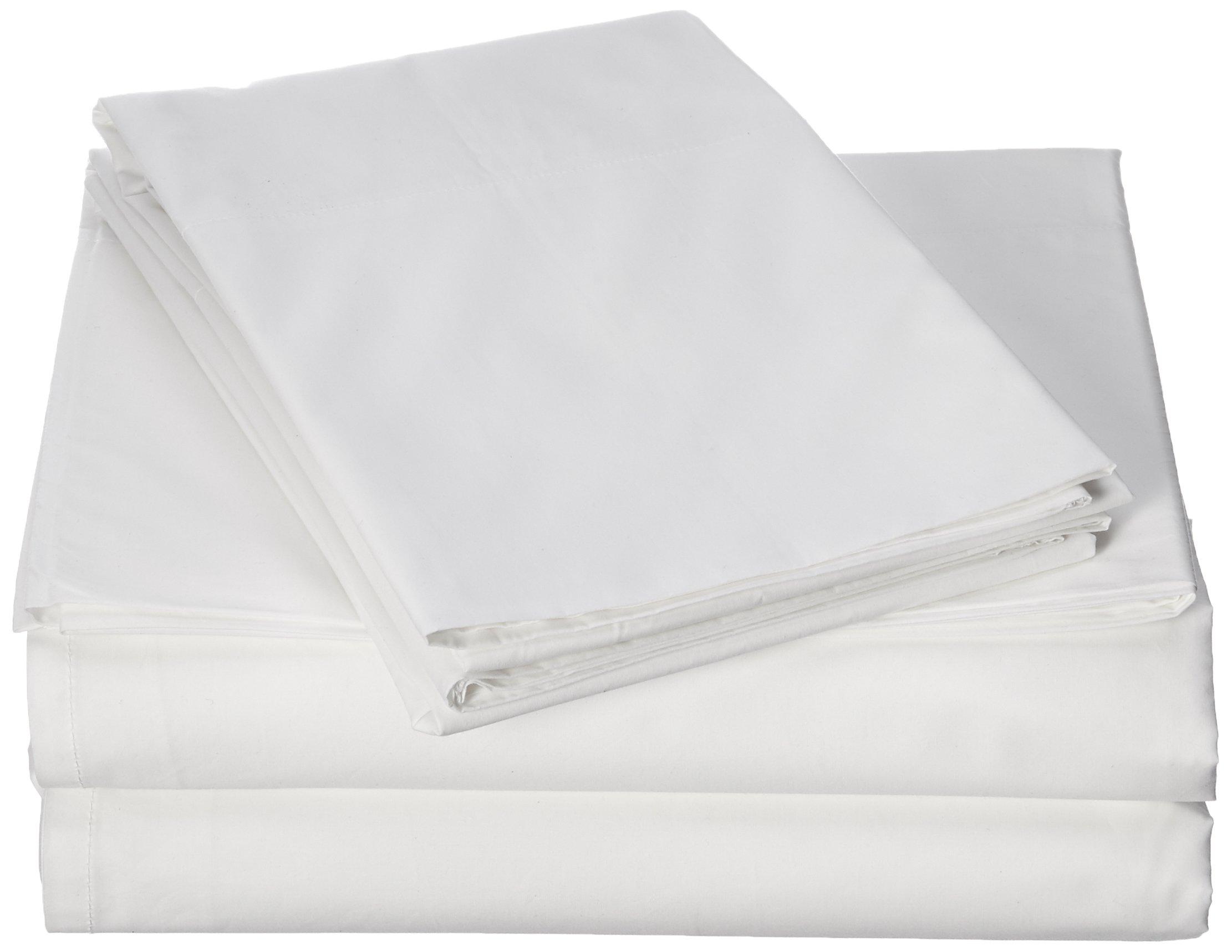 Coyuchi 300 TC Organic Percale Sheet Set, Queen, Alpine White by Coyuchi