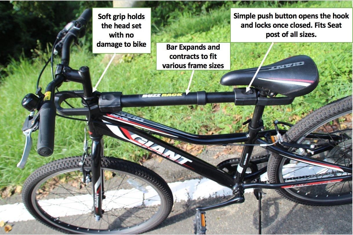 BUZZ RACK GRIP Deluxe Black Bike Top Frame Cross Bar Telescopic Adaptor by BUZZ RACK (Image #2)
