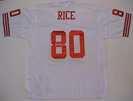 new concept b75fd 7c88f Jerry Rice Signed Jersey - coa Exact Proof - Autographed NFL ...