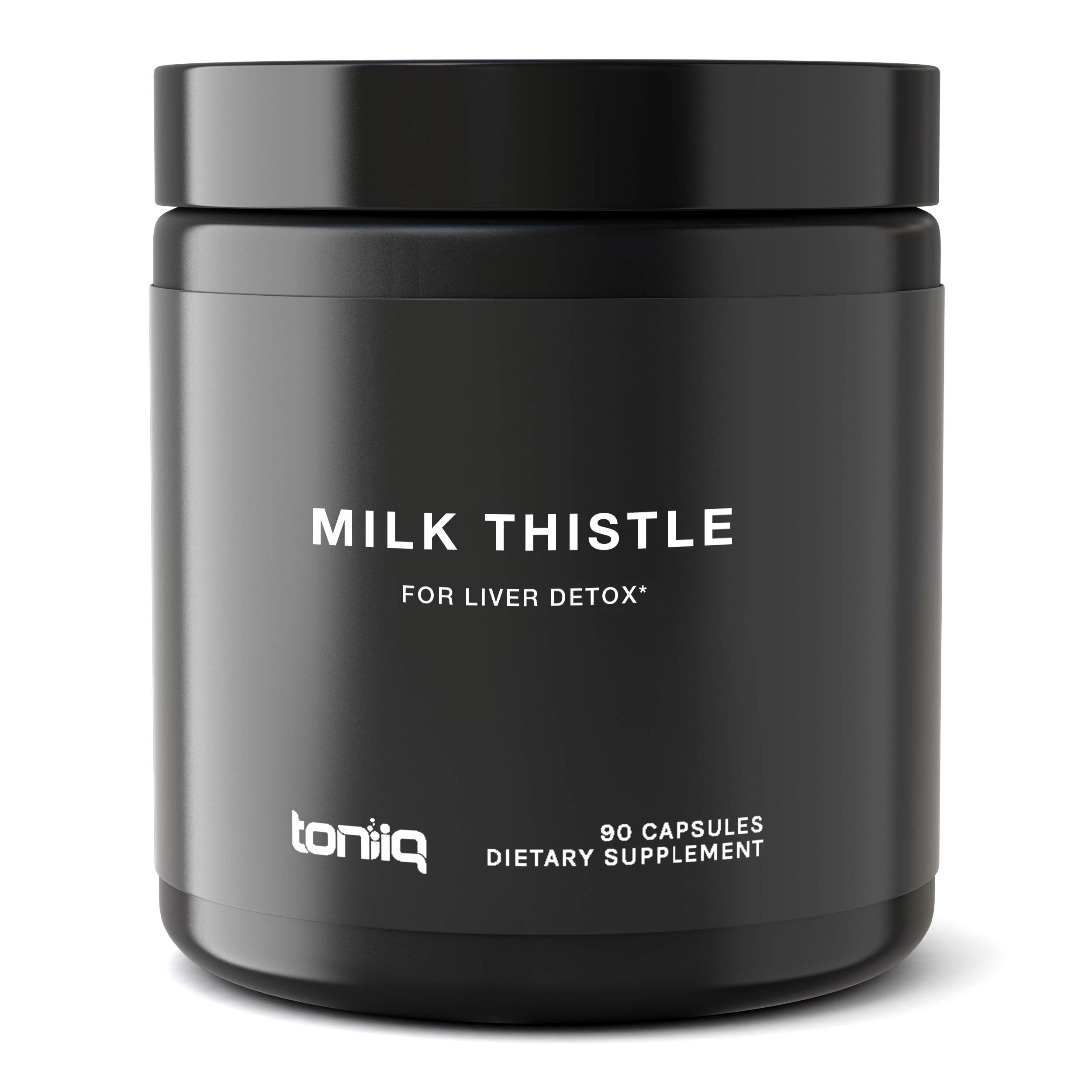Ultra High Strength Organic Milk Thistle Capsules - 25,000mg 50x Concentrated Extract - The Strongest Milk Thistle Supplement Available - 80% Silymarin - Liver Support Supplement - 90 Capsules