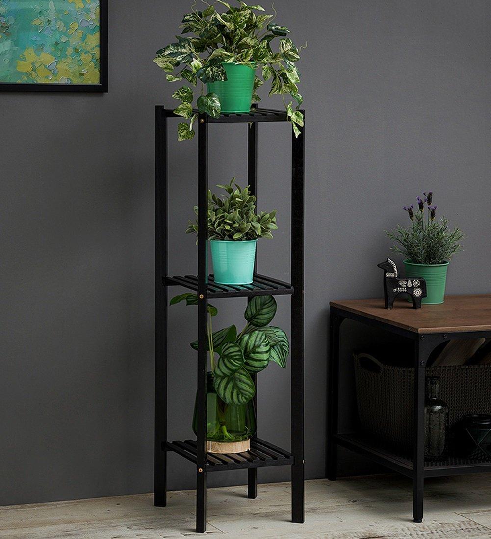ZENGAI 屋内 フラワーポットラック 無垢材 竹 省スペース 組み合わせ 植木鉢 植物 ディスプレイスタンド、ブラック/ウッドカラー フラワースタンド (色 : 1#-65cm) B07D4KFSFH 1#-65cm 1#65cm
