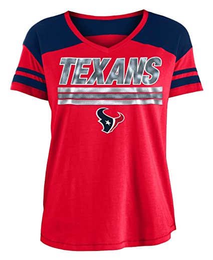 Image Unavailable. Image not available for. Color  New Era Houston Texans  Women s NFL Field Goal V-Neck Short Sleeve Shirt 469c81475