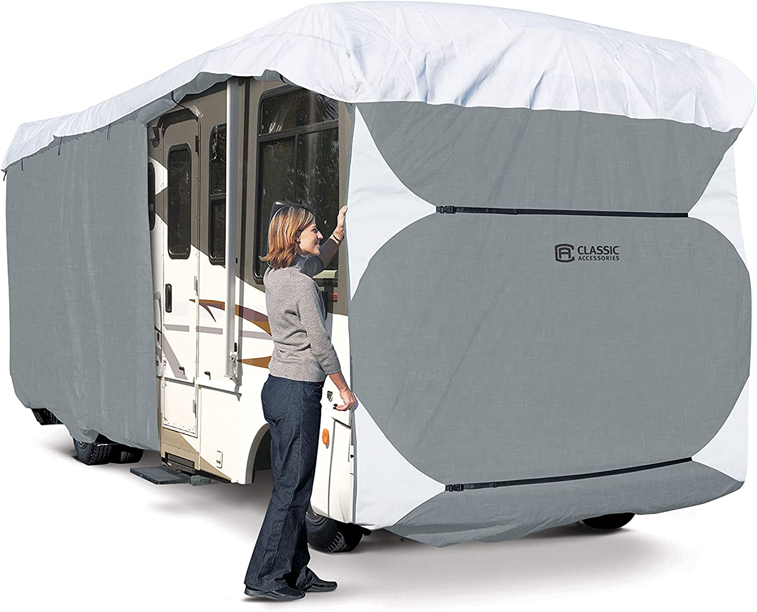 Classic Accessories Over Drive PolyPRO3 Deluxe Class A RV Cover, Fits 30' - 33' RVs (80-336-183101-RT)