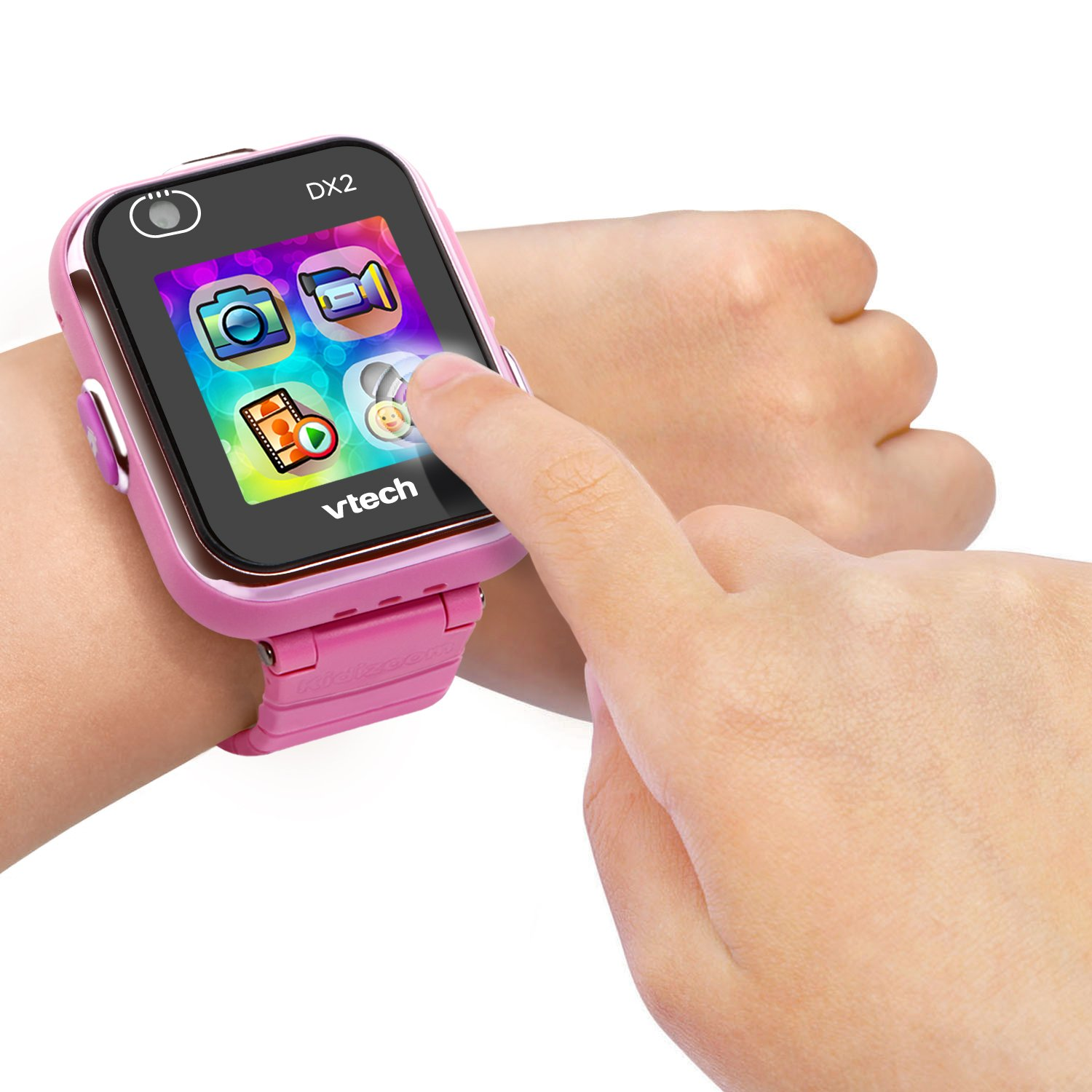 VTech Kidizoom Smart Watch DX2 - Reloj inteligente para niños, color rosa, versión Alemana (80-193854)