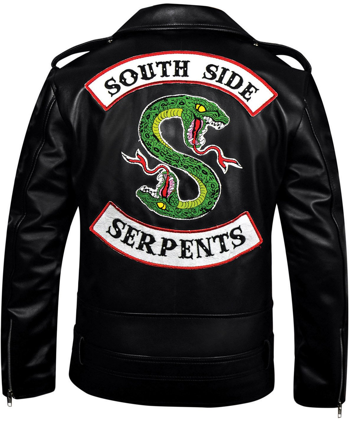 FaddyRox Riverdale Southside Serpents Black Faux Leather Jacket, M