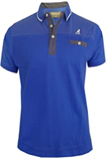 3a8666a0 Mens Polo Shirt Kangol Montrose Spotted Print Collared Short Sleeve Casual  Top