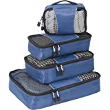 eBags Classic Small/Medium Packing Cubes for Travel - Organizers - 4pc Set - (Denim)