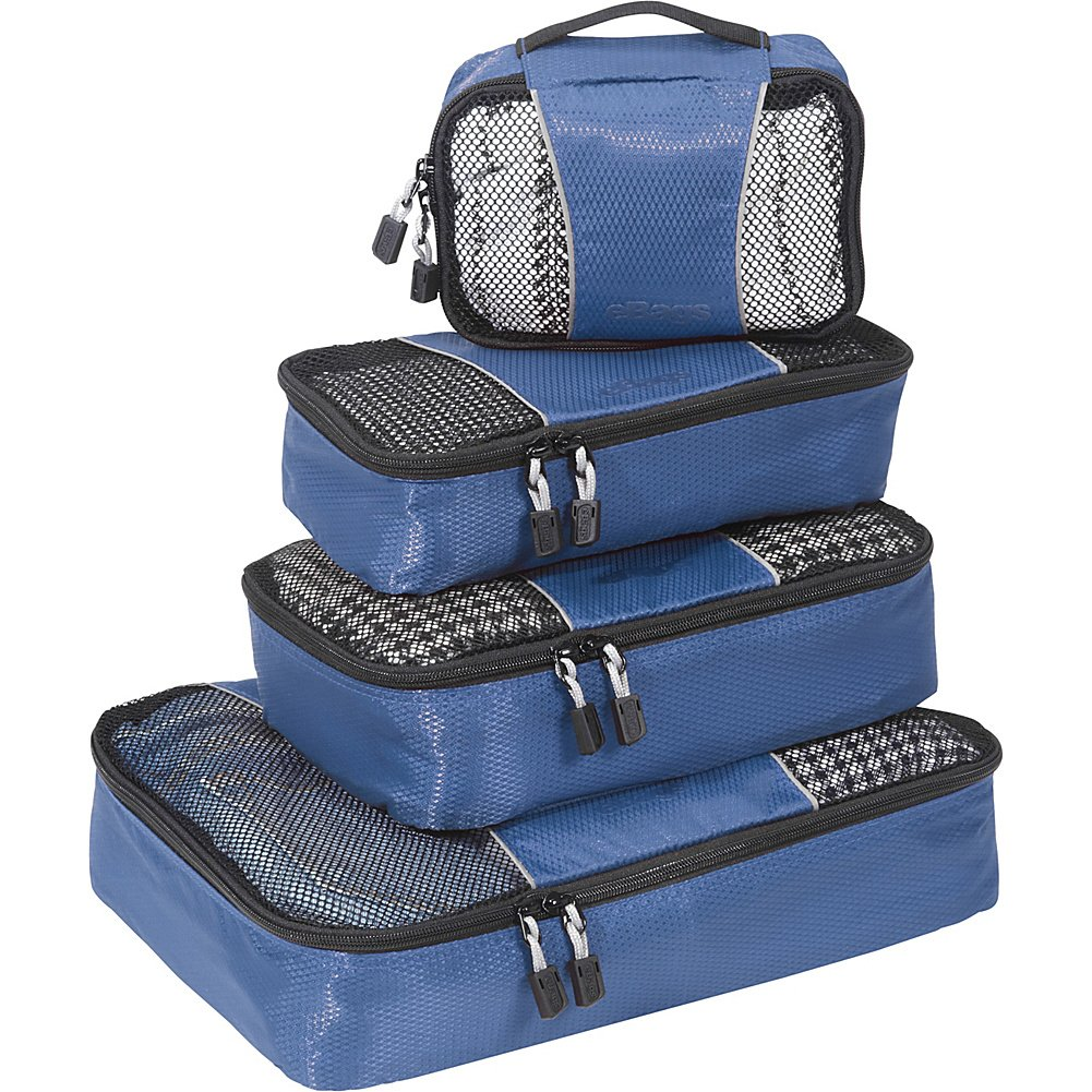 eBags Small/Medium Packing Cubes for Travel - Organizers - 4pc Set - (Denim)
