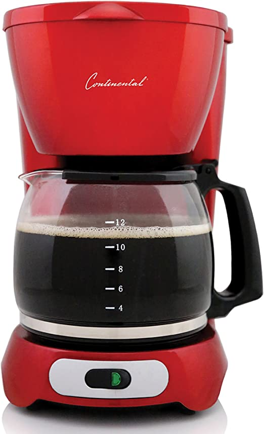 Amazon.com: Continental Electric Rojo Metálico 10-cup ...