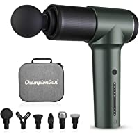 ChampionGun Massage Gun Deep Tissue, Handheld Muscle Massager Gun with 6 Heads Portable Quiet Electric Body Percussion…