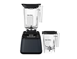Blendtec Designer 625 Blender with WildSide+ Jar (90 oz) and Mini WildSide+ Jar (46 oz) BUNDLE, Professional-Grade Power, 4 Pre-Programmed Cycles, 6-Speeds, Sleek and Slim, Slate Grey