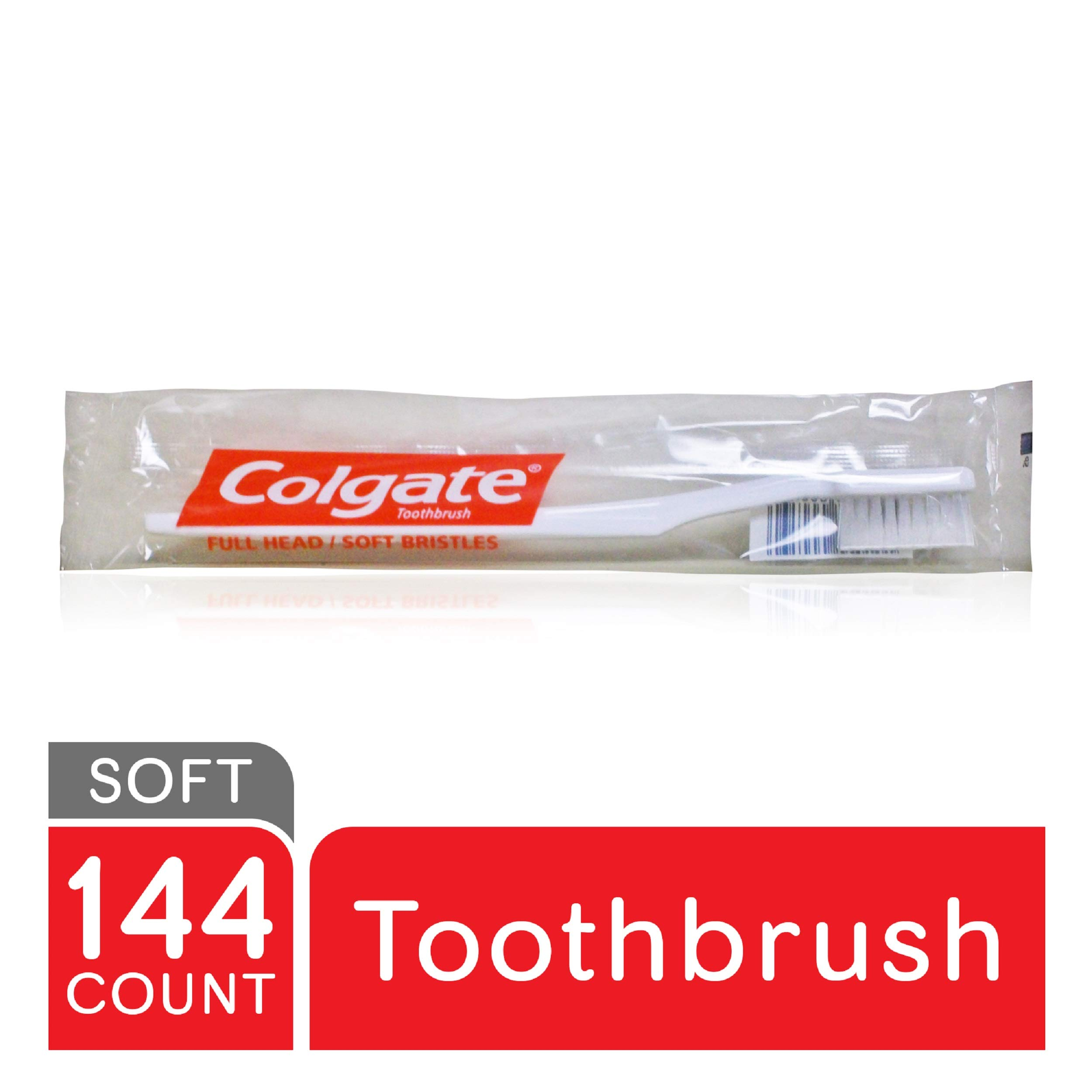 COLGATE Individually Cello-Wrapped Toothbrushes, Soft Toothbrush, Bulk Toothbrushes, Travel Toothbrush (Case of 144) (155501) by Colgate