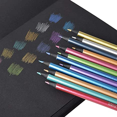 Metallic Color Pencil Set Of 12 Colors
