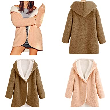 Amazon.com: DICPOLIA Womens Plus Size Winter Jackets Faux ...