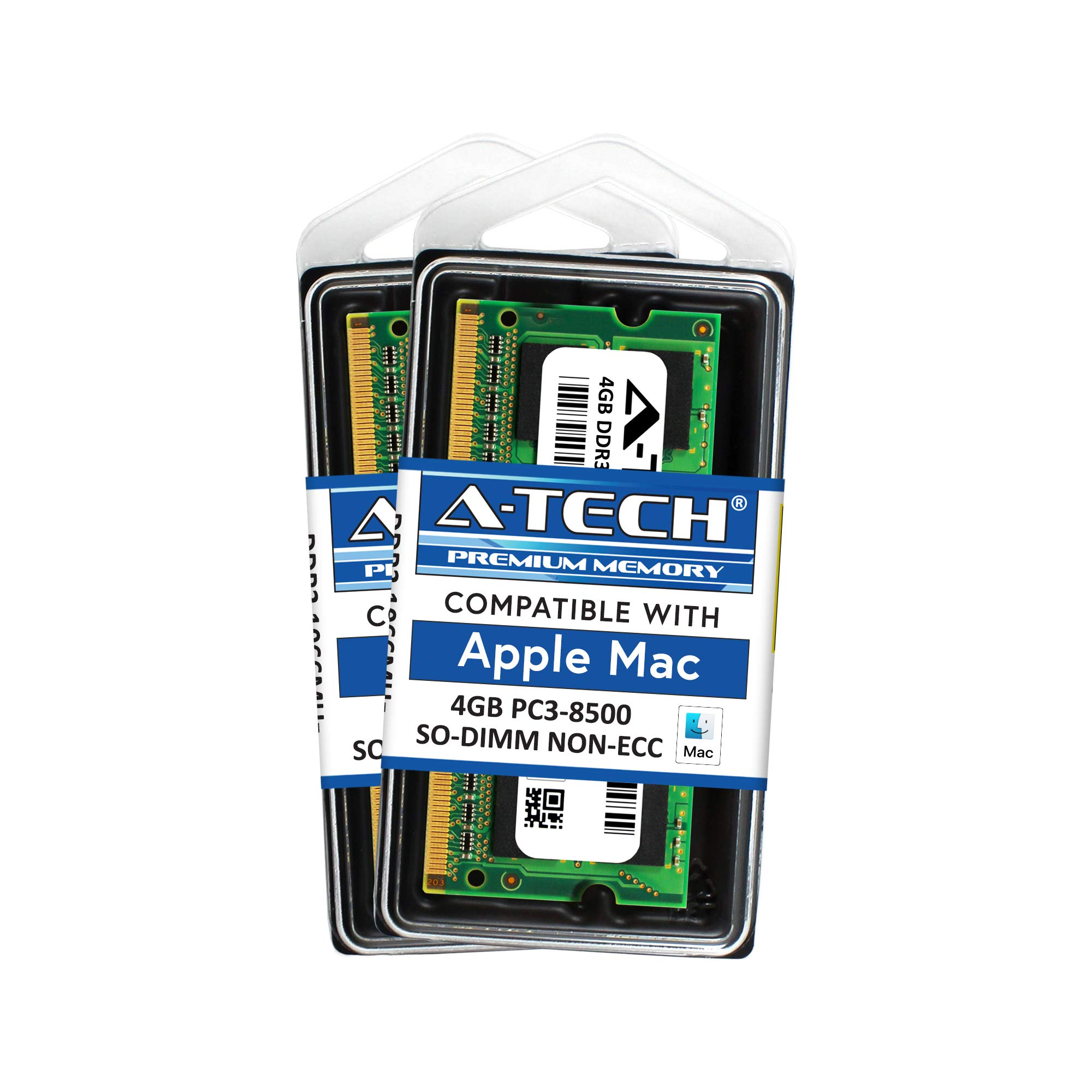 Memoria Ram 8gb A-tech Para Apple Kit (2x 4gb) Ddr3 1067mhz / 1066mhz Pc3-8500 Sodimm Macbook (late 2008 Late 2009 Mid 2
