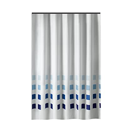 31d83bca698f6 Amazon.com: Extra Long Shower Curtain 72 x 78 Inch Gamma White With ...