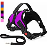Musonic No Pull Dog Harness, Breathable Adjustable Comfort, Free Leash Included, for Small Medium Large Dog, Best for…