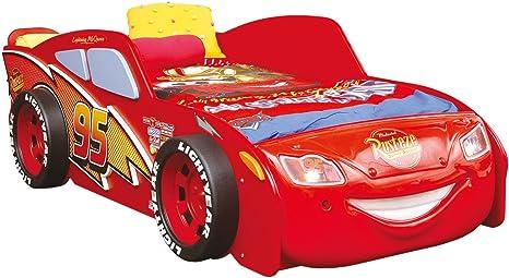 Bilira – create your home cama de coche cama infantil cama individual Cars Lightning McQueen niños Disney cuna cuna cama de juego somier luz coche