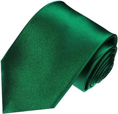 /Cravate Lot de 2/marques 100/% soie/ /8433101 /avec pochettes Chiffon Uni Argent Gris argent/é Uni mariage/ LORENZO CANA/