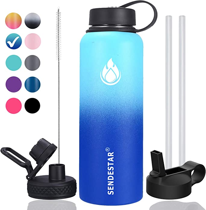 Top 10 Double Wall Vacuum Insulated Water Bottle 40 Oz