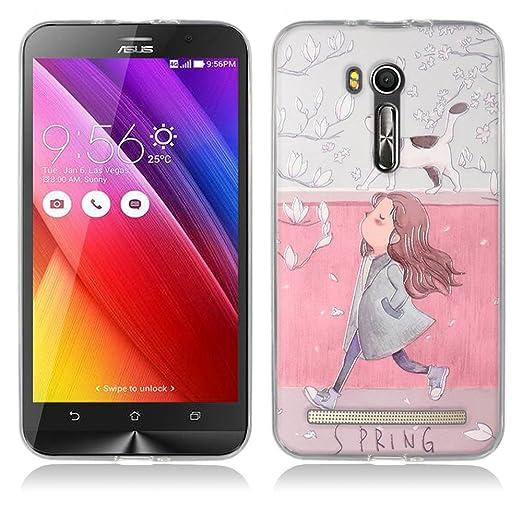 6 opinioni per Asus Zenfone Go ZB551KL Cover, Fubaoda Estetico 3D Rilievo UltraSlim TPU Skin